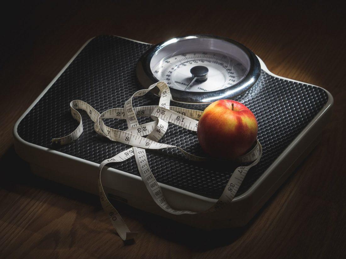 体重計,リンゴ,メジャー