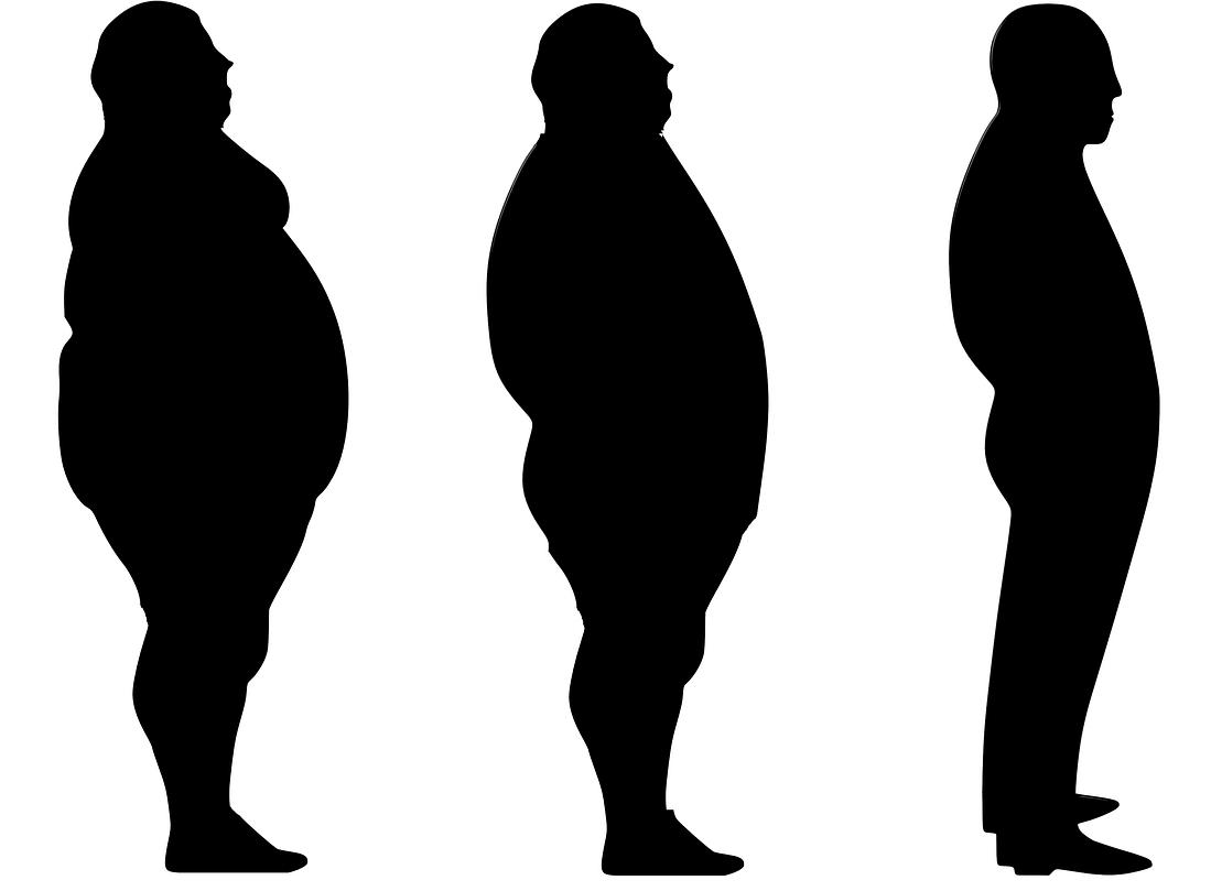 肥満体型から痩せ体型へ