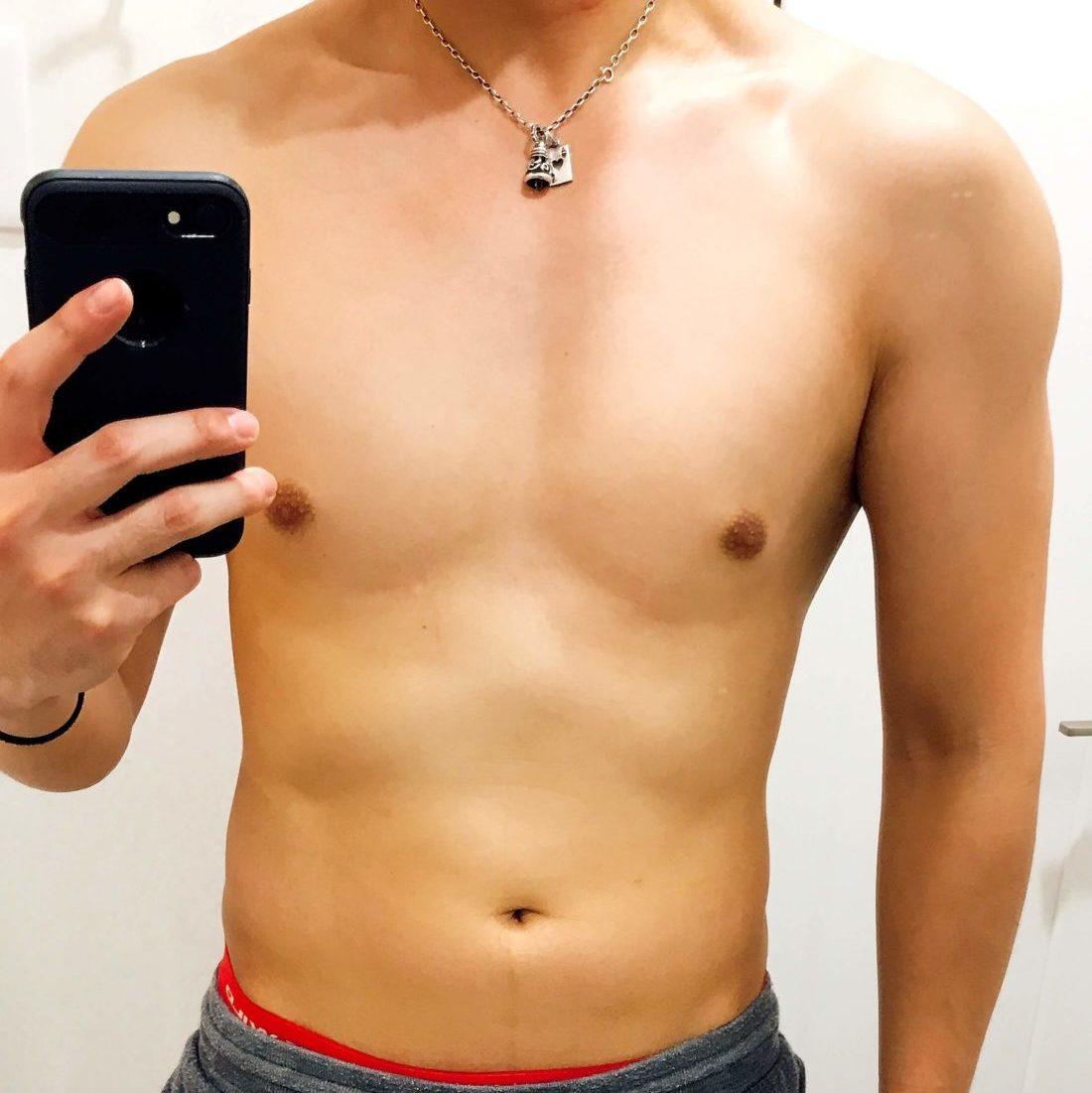 体重70kg減量前の体型