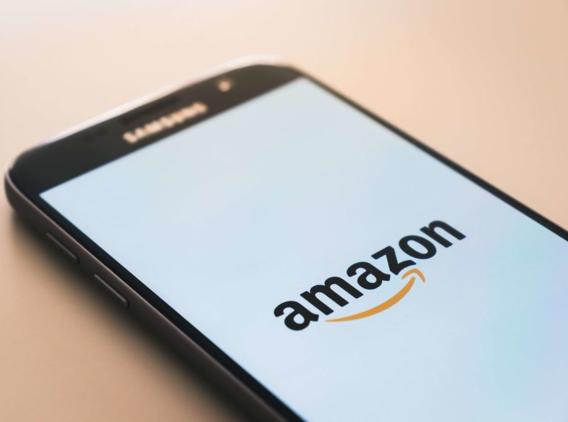 Amazonを起動した画面